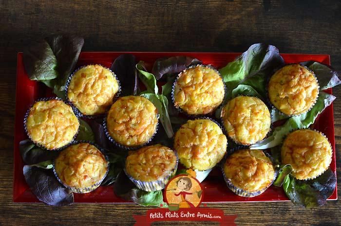 Muffins au butternut et fromage la recette