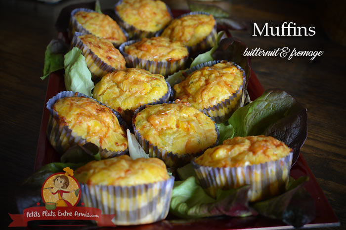 Muffins au butternut et fromage