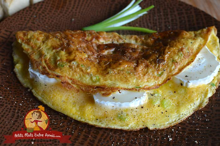 Omelette chèvre et cébettes la recette