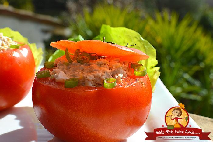 Recette tomates farcies au thon et oeuf