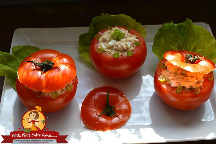 Tomates farcies au thon et oeuf  la recette