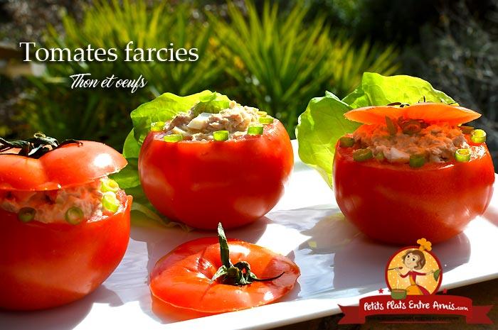 Tomates farcies au thon et oeuf