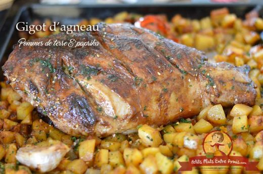 Gigot d'agneau aux pommes de terre et paprika