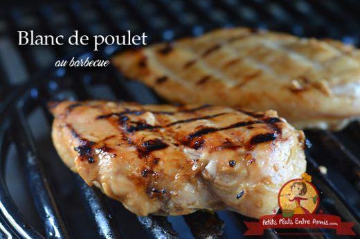 Blanc de poulet au barbecue