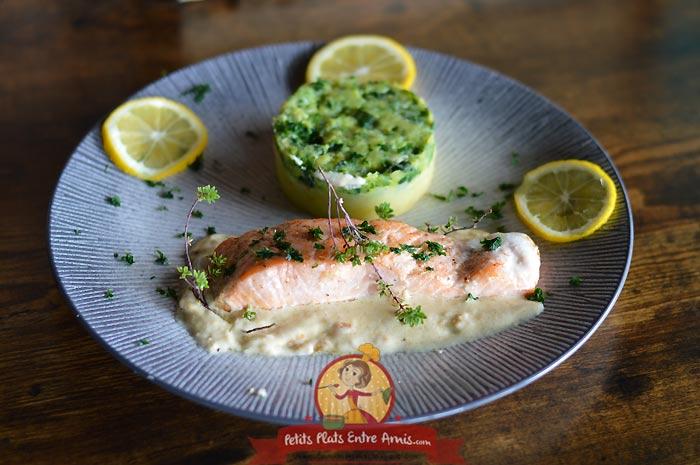 Pavé de saumon à la crème la recette