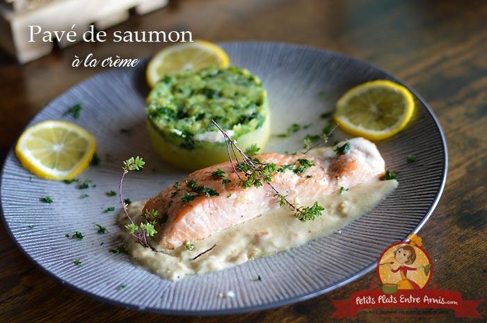 Pavé de saumon à la crème