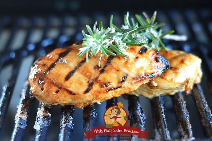 Recette blanc de poulet au barbecue