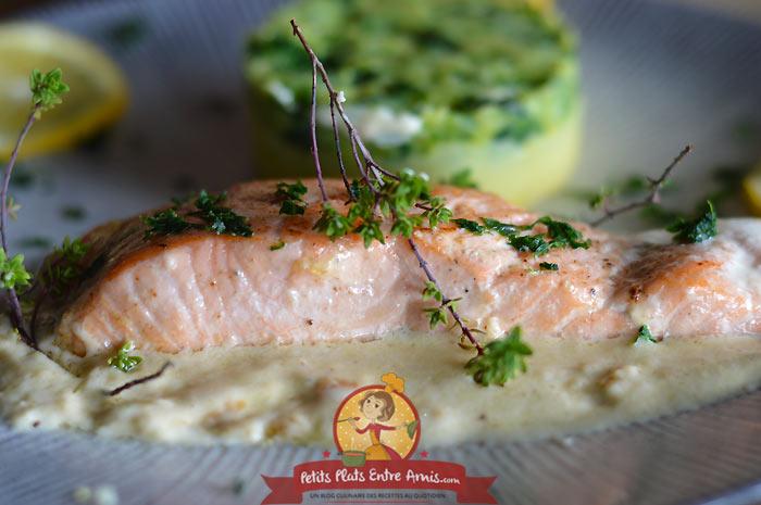 Recette de pavé de saumon à la crème