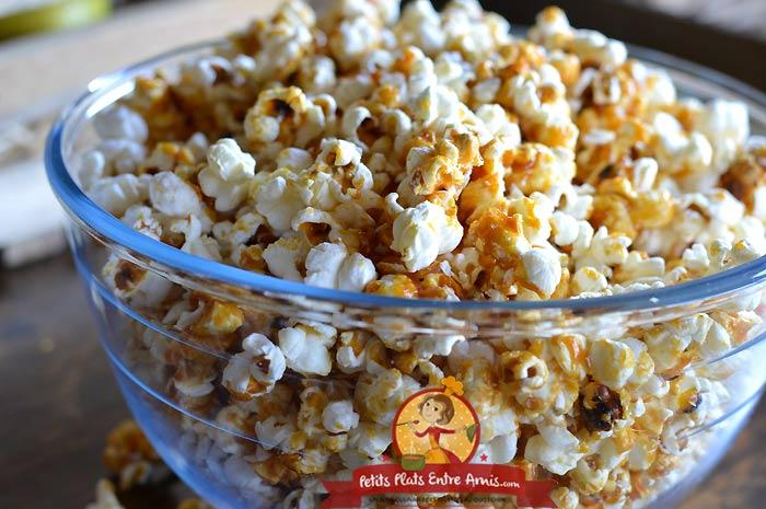 Recette popcorn caramélisé