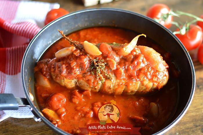 Rôti de dinde aux tomates la recette