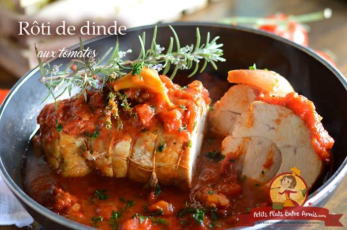 Rôti de dinde aux tomates