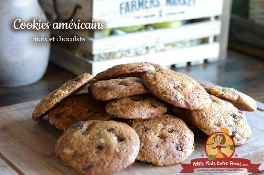 Cookies américains aux noix et chocolats