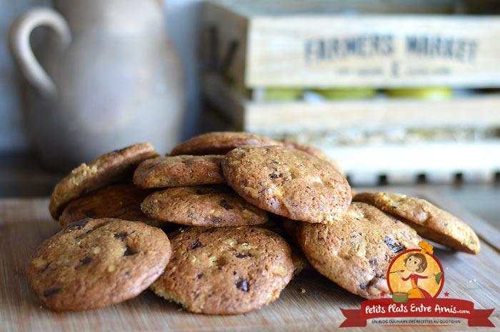 Cookies américains aux noix et chocolats la recette