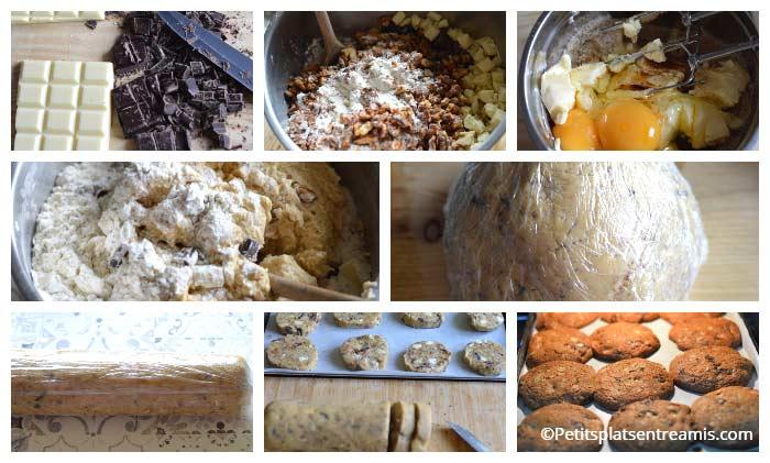 cuisson cookies américains aux noix et chocolats