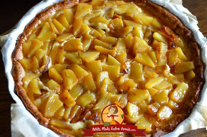 Recette tarte à l'ananas