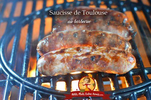 Saucisse de Toulouse au barbecue