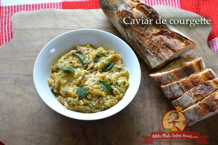 Caviar de courgette