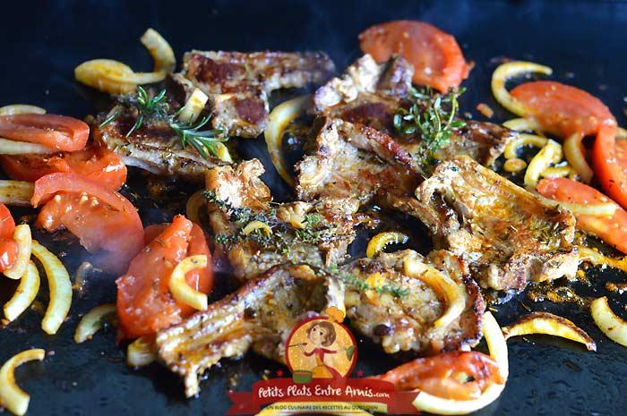 Côtes d'agneau à la provençale - cuisson plancha la recette