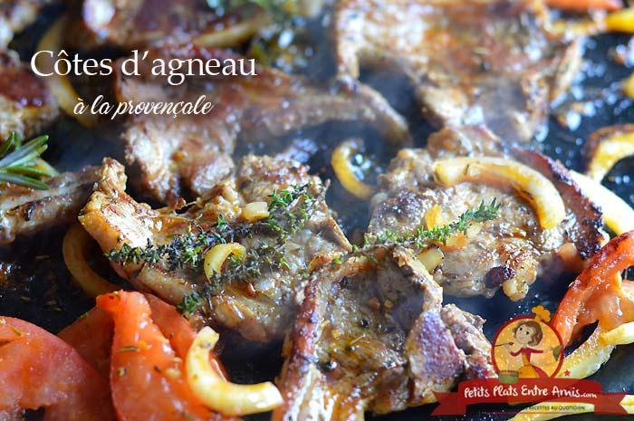 Côtes d'agneau à la provençale - cuisson plancha