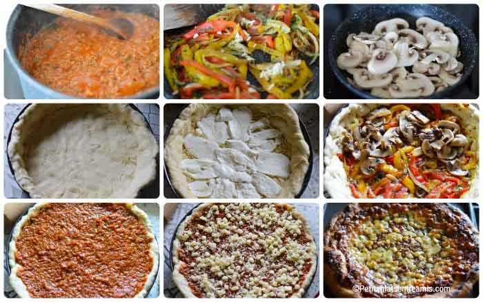Cuisson pizza Chicago