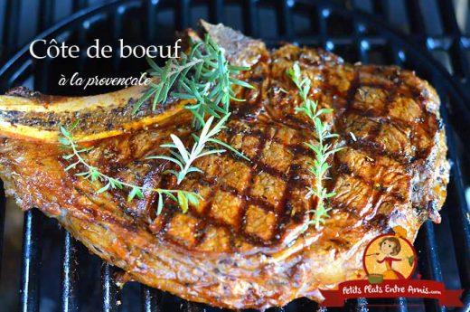 Côte de boeuf à la provençale au barbecue