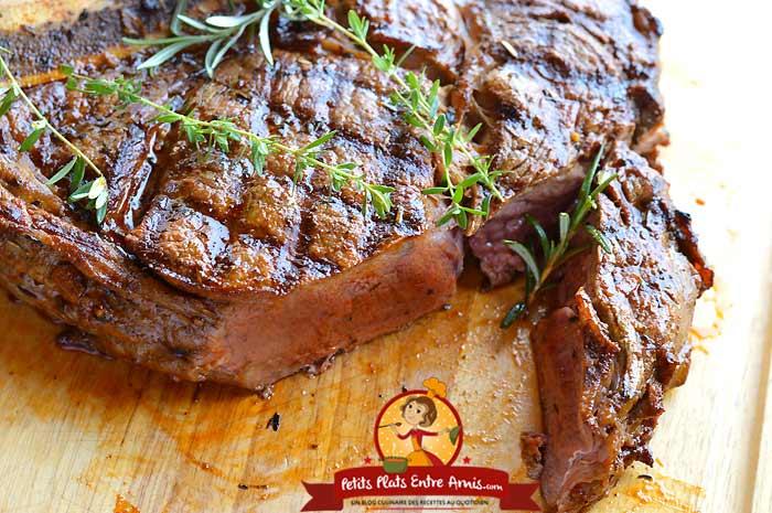 Cuisson côte de boeuf à la provençale au barbecue