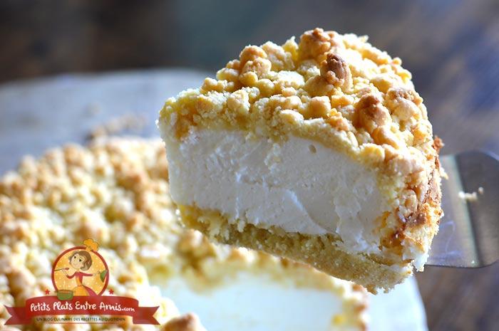 Cuisson gâteau à la crème yaourt et crumble