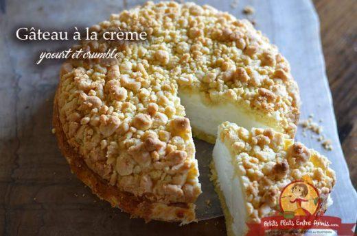 Gâteau à la crème yaourt et crumble