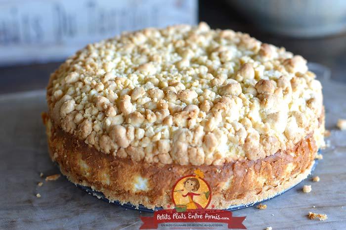 Recette gâteau à la crème yaourt et crumble
