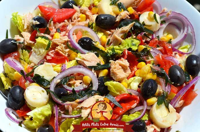 Recette salade de thon complète à l'estragon