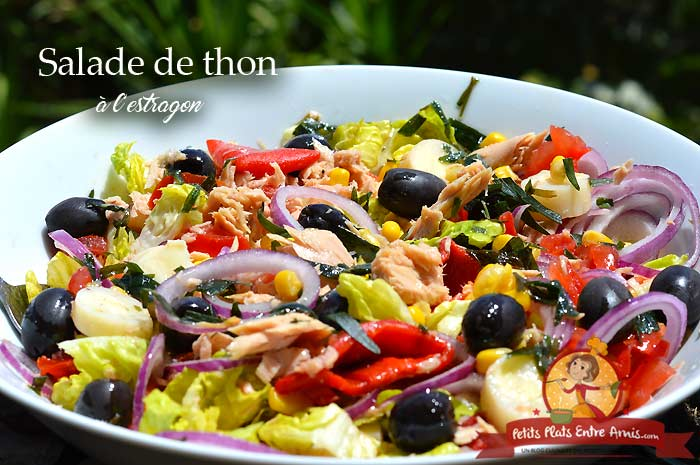 Salade de thon complète à l'estragon