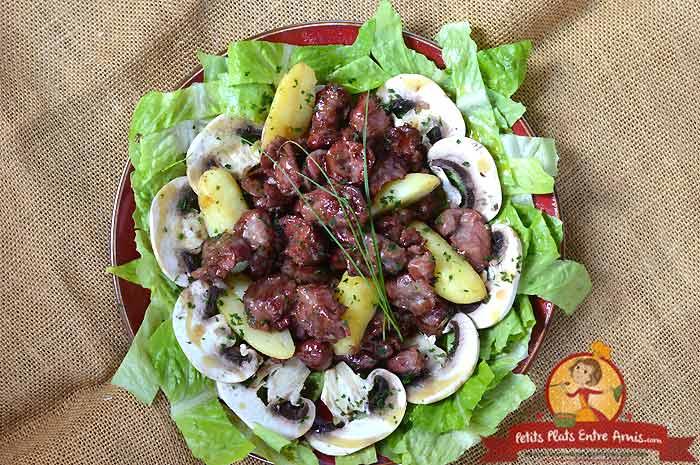 Recette de salade de gésiers confits