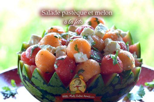 Salade pastèque et melon à la feta