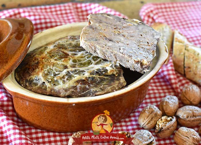 Recette pâté de campagne aux noix