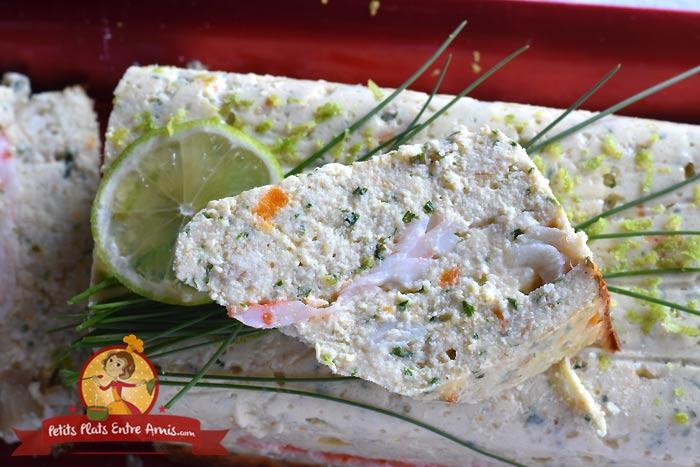 Cuisson terrine de poisson aux crevettes